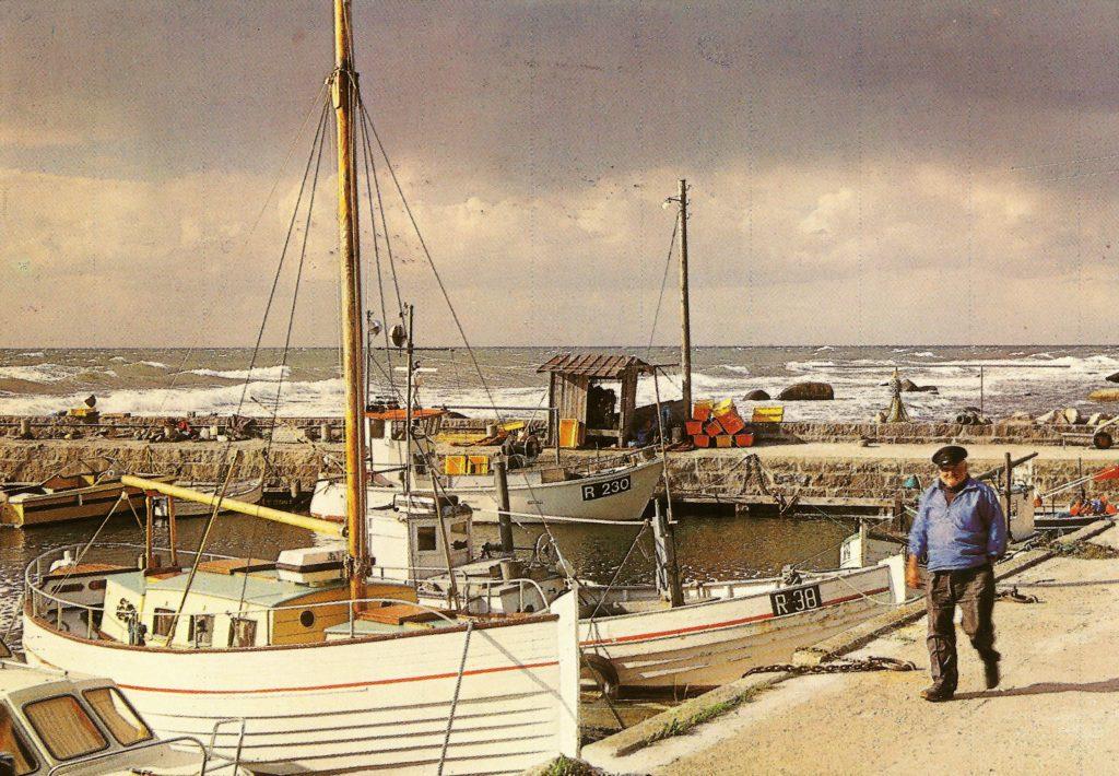Børge Vang på Helligpeder havn, foto Mogens Dam.