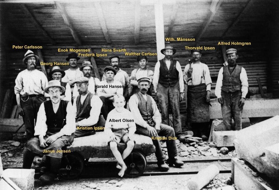 Vang granit ca. 1920, foto ved Per Bruhn Tausbo